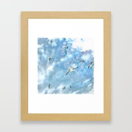 The Chasers - Seagulls In Flight Framed Art Print
