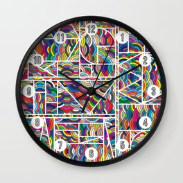 Kaku Technicolor Wall Clock