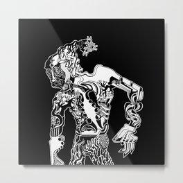 hominum_II_BLACK&WHITE Metal Print