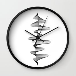 Soundwave Music Audio black and white Musical Abstract 80s Art design home wall bedroom decor Wall Clock