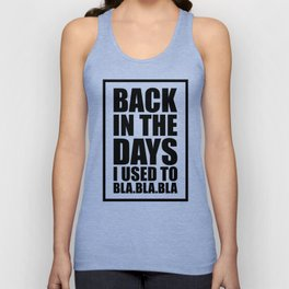 Back in the days Unisex Tank Top