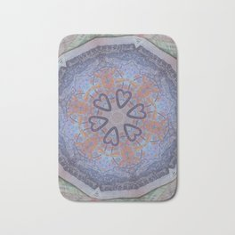 Hearts (from a South African Rand currency note) Bath Mat