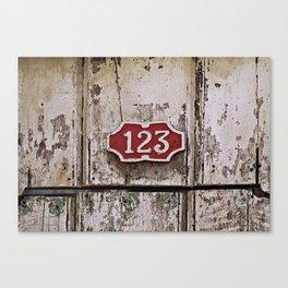 Address Plaque Canvas Print