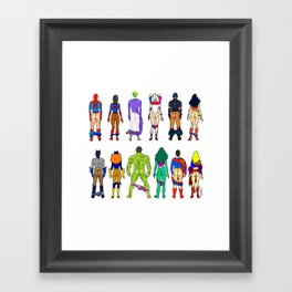 Superhero Butts - Power Couple Framed Art Print