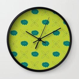 flower pattern ii Wall Clock