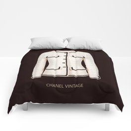 coco vintage black and white jacket Comforters