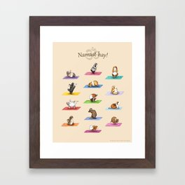 The Yoguineas - Yoga Guinea Pigs - Namast-hay! Framed Art Print