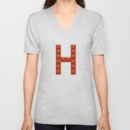 "Letter ""H"" print in beautiful design Fashion Modern Style Unisex V-Neck"
