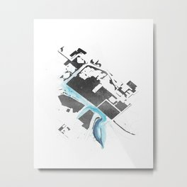 City Plan Art Metal Print