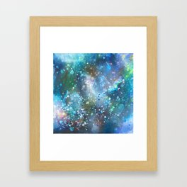 Casting Wishes/First Snowfall Framed Art Print
