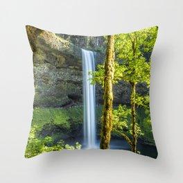Splendor at South Falls Throw Pillow