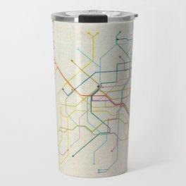 Minimal Paris Subway Map Travel Mug