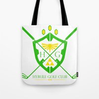 hyrule Tote Bags featuring Hyrule Golf by reyrol