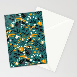 Tropical Toucan Pattern Stationery Cards