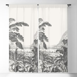 Palms and Mountain Blackout Curtain