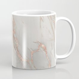 Marble - Rose Gold Marble Metallic Blush Pink Coffee Mug