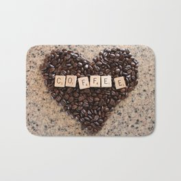 Love Coffee Bath Mat