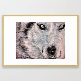 Spirit of White Wolf Framed Art Print