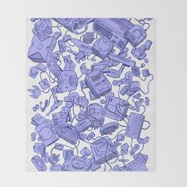 Retro Gamer - Blue Throw Blanket