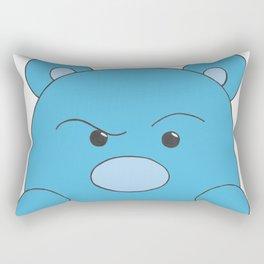 Blue Bear Stare Rectangular Pillow