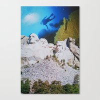 rushmore Canvas Prints featuring Mount Rushmore by John Turck