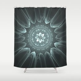 Blossom Within in Platinum Shower Curtain