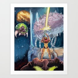 Super Metroid Fan Art Art Print