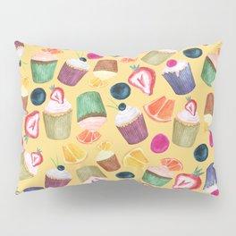 Exotic Cupcake Pattern Pillow Sham