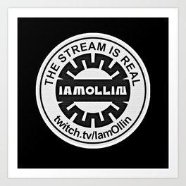 Ollin Stream Tee Black Art Print