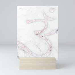 slender smoky om Mini Art Print