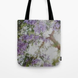 Purple Flowers Dream Tote Bag