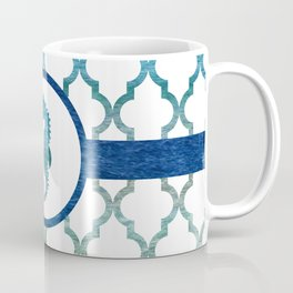Seahorse: Tropical Water Moroccan Pattern Coffee Mug