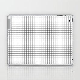 White Grid Black Line Laptop & iPad Skin