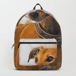 Greyhound Art Backpack
