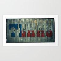 texas Art Prints featuring Texas by Kam Minatrea
