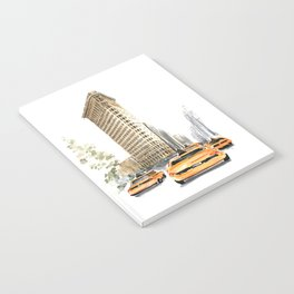 Architecture sketch of the Flatiron building in New york Notebook