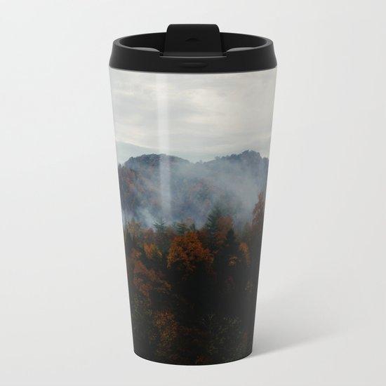 smokey forest Metal Travel Mug