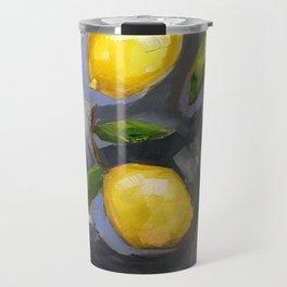 Lemons on Blue iphone cover Travel Mug