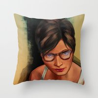 grand theft auto Throw Pillows featuring Grand Theft Auto Online Characters - The Beauty of The Damned by W.Flemming