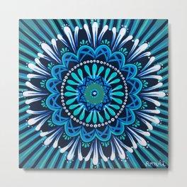 meditation in blue Metal Print