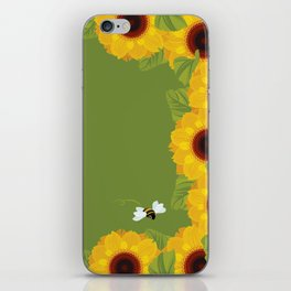 Sunflowers & Bee iPhone Skin