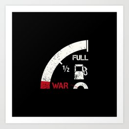 Mile away from war Art Print