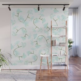 How delicate the orchid's eternal bloom Wall Mural