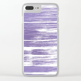 Modern abstract lilac lavender white watercolor brushstrokes Clear iPhone Case
