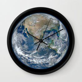 Planet Earth from Above Wall Clock