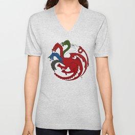 Fantastic Heraldry: Chromatic Dragon Unisex V-Neck