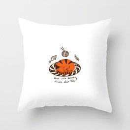Amusing red cat Throw Pillow