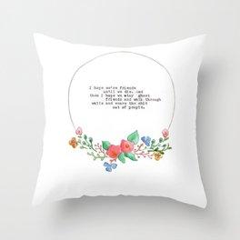 Best Ghost Friends Throw Pillow