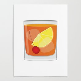 Old Fashioned Cocktail Poster