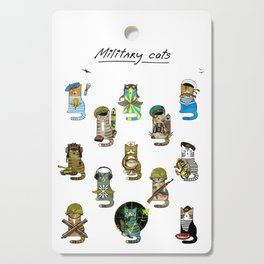 Military Cats Cutting Board